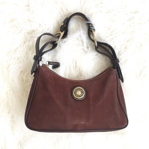 Dooney & Bourke pebbled leather brown hobo bag